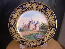 Vincennes / Sevres Porzellan Teller Schloss Chaumont um 1750