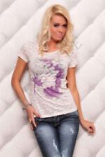 Camisetas de mujer de manga corta de talla única