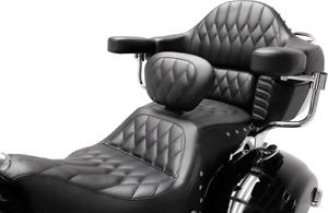 Mustang Concho Diamond Stitch 1-Piece Heated Touring Backrest Seat 79664