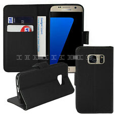Samsung Galaxy Leather Wallet Stand Flip Book Case Cover Pouch S7 S7 Edge S6 S5