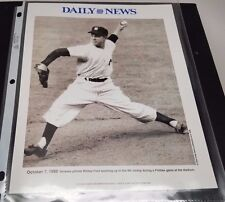 New York Yankees WHITEY FORD 2 Sided Daily News 8x10 photo & Bill Gallo poster