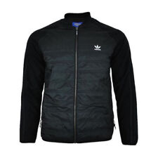 Adidas Originals Mens Superstar Jacket SST Classic Quilted Full Zip Coat - Black