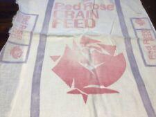 Vintage Open Red Rose Grain Feed Sack Bag John Eshelman & Sons Nice