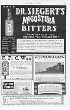 Dr. Siegert's Angostura Bitters  -  Large half page ad  -  1902