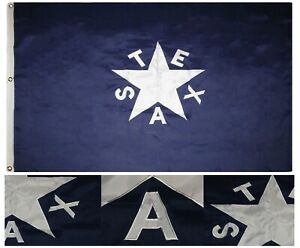 4x6 Embroidered Sewn Texas Zavala Synthetic Cotton Flag 4'x6' w/ Clips
