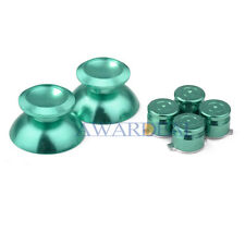 Thumbsticks Bullet Action Buttons Mod Kits for PS4 Controller Alloy Metal Green