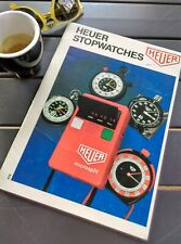 1975 Heuer catalogue booklet vintage stopwatch timer Monte Carlo rally race