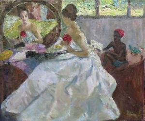 Org.1950s Germain Chardon painting,  Paul Gauguin Daughter