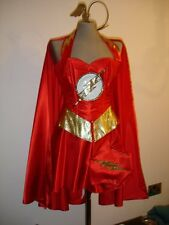 FLASH  corset costume fancy dress  custom made to measure including cape