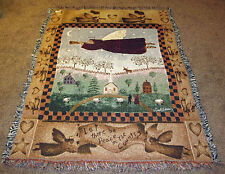 Angel of Peace ~ Folk Angel Tapestry Afghan Throw ~ Artist, Carol Endres
