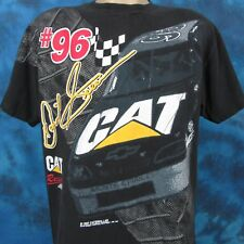 vintage 90s CATERPILLAR DAVID GREEN #96 CAT NASCAR RACING T-Shirt LARGE soft