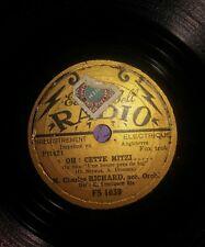 EDISON BELL RADIO FS1039,CHARLES RICHARD,OH CETTE MITZI,78 TOURS 20 CM
