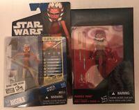 IN STOCK Star Wars Ahsoka Tano Lot Black Series 3.75 VC102 & CW17 Clone Wars