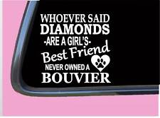 "Bouvier des flandres Diamonds Tp 426 vinyl 6"" Decal Sticker dog breed bed toys"