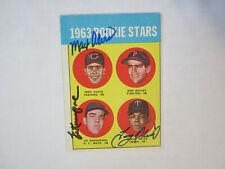 1963 Topps # 228 Max Alvis Ed Kranepool Tony Oliva Autograph Signed Card (M)