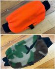 Reversible Camo/Orange Muff Hand Warmer Sleeve with Heat Pack Pocket