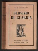 G.B. Angioletti Servizio di guardia Giuseppe Carabba editore senza data  6605