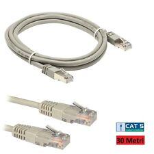 Cavo di Rete Patch Ethernet UTP Cat 5 Lan RJ45 Adsl Computer Cable 30 Metri hsb