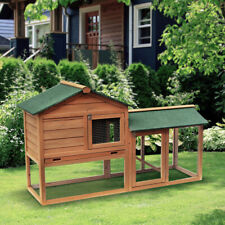 """Lovupet 58"""" Deluxe Chicken Coop Wooden Poultry Hen Hutch House Backyard With Run"""