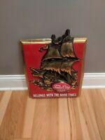 Vintage Falls City Beer Sign Plastic Ship Nautical