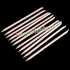 10 X Nail Art Orange Wood Stick Cuticle Pusher Remover