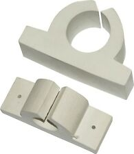 "Seasense Boat Marine 1"" White Storage Clips 1 Pair For Rods Lights Gafs"