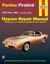 1970-1981 Pontiac Firebird Haynes Repair Service Workshop Shop Manual Book 882X