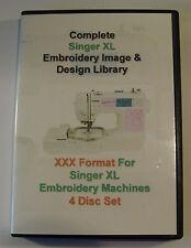 139,877 Singer XL Machines XXX Format EMBROIDERY Designs - 4 DISC BOX SET