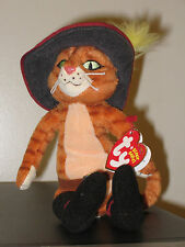 Ty Beanie Baby ~ PUSS IN BOOTS the Cat ~ Shrek DVD Exclusive MINT with MINT TAGS