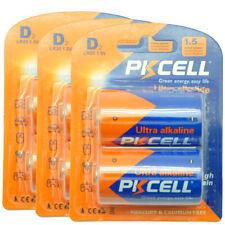6pcs Industrial EN95 LR20 Alkaline 1.5V D Batteries Fast Ship PKCELL
