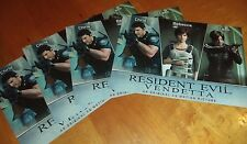 4x 2017 Resident Evil Vendetta CG Motion Picture Promo Postcard New