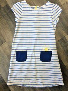 Gymboree Striped Sweatshirt Dress Embroider Sunshine & Pockets size 10 EUC