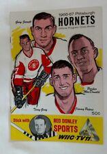 1966 PITTSBURGH HORNETS VS PROVIDENCE REDS AHL PROGRAM  CIVIC ARENA