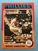 1975 Topps Steve Carlton Card #185 Philadelphia Phillies HOF
