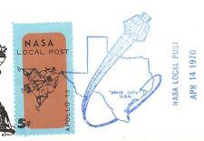 Space NASA Local Post 5c Tied Apollo 13 Cancelled 1970 Houston Unaddrss 5y