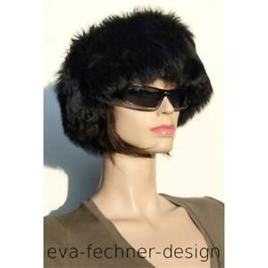 Fur Headband Tube Lambskin Tube Scarf Toscana Fur Earmuffs Black