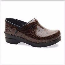 Dansko Professional Tooled Brown Leather Clog US 11 EU 42