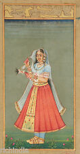 moghul mughal Queen Lady Traditional Painting ART Antique Muslim woman Love Shoe