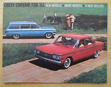 CHEVROLET Corvair 1961 range orig USA Mkt brochure - Monza Lakewood Greenbrier