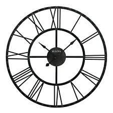 "BULOVA  OVERSIZED GALLERY METAL CASE WALL CLOCK - CARMEN"" C4820"