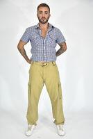 BELSTAFF Pantaloni Beige In Cotone Taglia IT 52 - XL Uomo Man