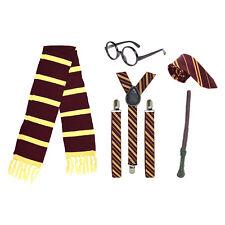 Asistente de la Escuela Niño Harry Fancy Dress Costume (bufanda, Varita, Corbata, vasos, Tirantes)