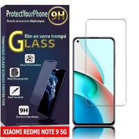 "Vitre De Protection Écran Film Verre Trempe Xiaomi Redmi Note 9 5G 6.53"""