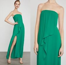 NWT BCBG MAXAZRIA Draped Front Strapless Gown Dress ultra green size 0