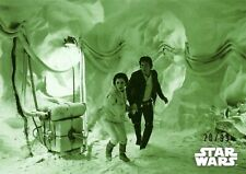 Star Wars Empire Strikes Back Black & White Green Parallel Base Trading Card #35