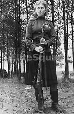 WW2 Photo Russian sniper Roza Shanina  54 confirmed kills with Mosin Rifle 259