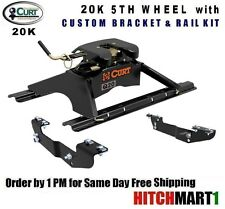 20K CURT 5TH FIFTH WHEEL TRAILER HITCH PACKAGE CHEVY PICKUP 16130/16418/16204