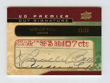 Lucille Ball 2008 UD Premier Stitchings 2/16 Cut Signature Auto Legendary SP UDA