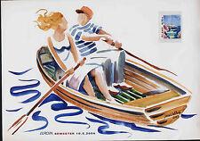 Aland 224 on Card - EUROPA, Yacht