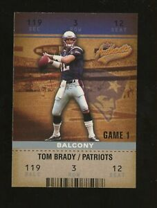 2003 Fleer Authentix #22  Tom Brady New England Patriots /250